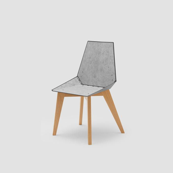 Cadeira Alpha cinza com feltro cinza