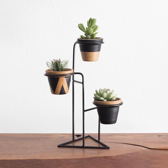 Hera Mini - Suporte para Vasos pequeno - Preto