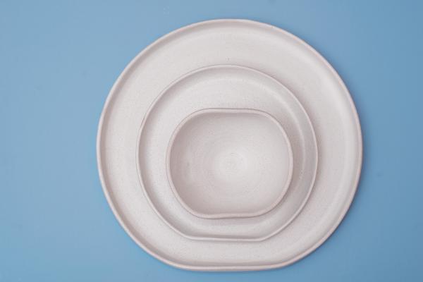 Conjunto Jantar Bend White 3 Peças