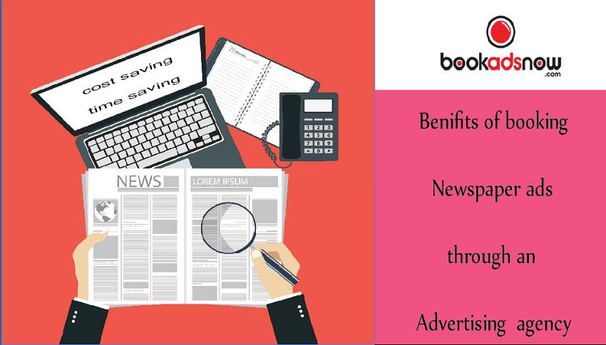book newspaper ad