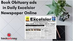 How to Book Obituary Ads in Daily Excelsior Newspaper Online