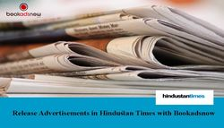 Release Advertisement in Hindustan Times with Bookadsnow