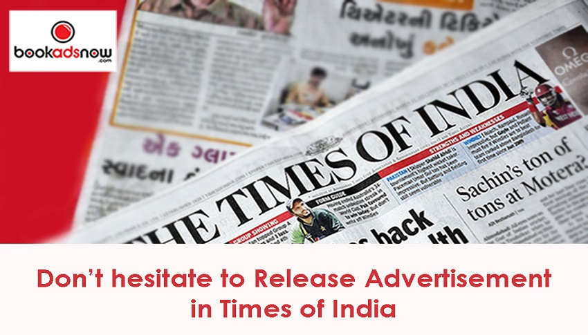 advertise in times of india