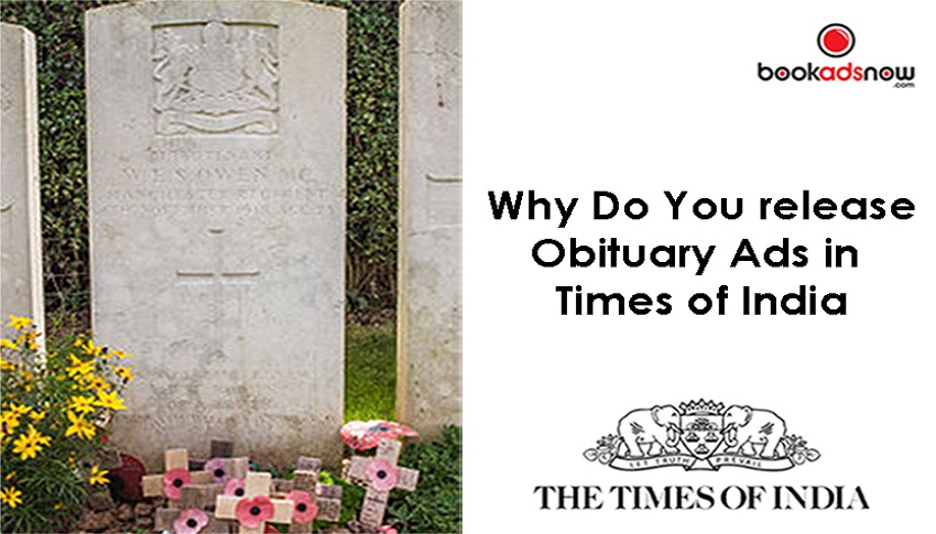 obituary ads in times of india