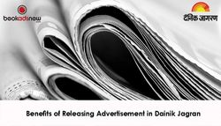 Benefits of Releasing Advertisement in Dainik Jagran