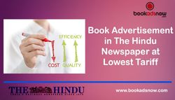 Book Advertisement in the Hindu Newspaper at the Lowest Cost