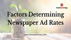 Factors Determining Newspaper Ad Rates
