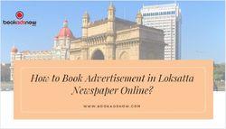 How to Book Advertisement in Loksatta Newspaper Online?