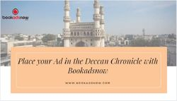 Place your Ad in the Deccan Chronicle with Bookadsnow