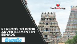 Legitimate Reasons to Book Eenadu Advertisement through Bookadsnow