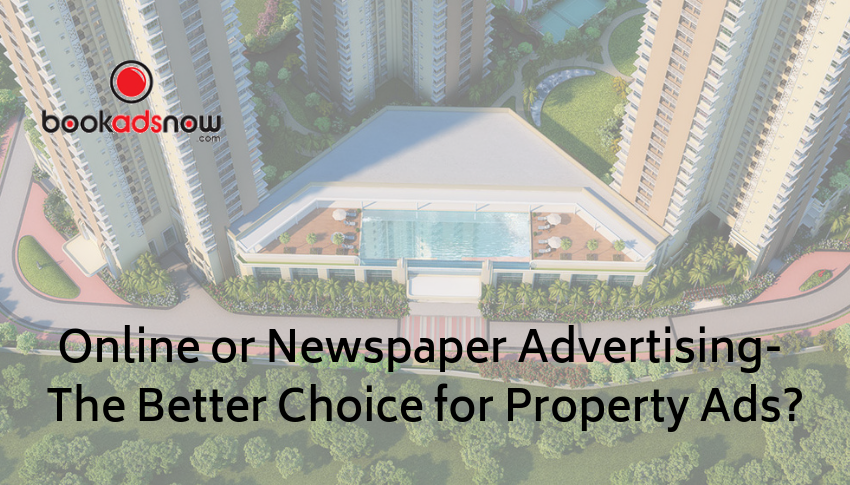 Property Advertisement Booking in Newspapers