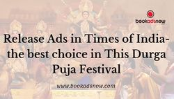 This Durga Puja Festival Book Newspaper Ads in Times of India!