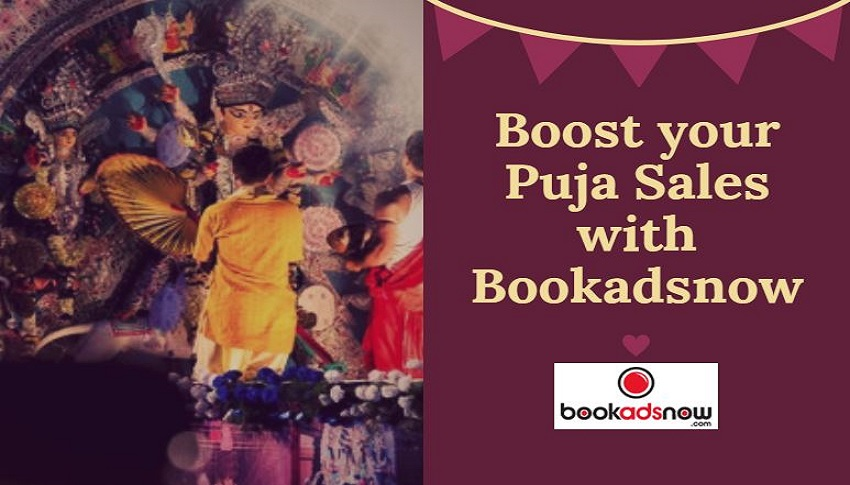 display ad booking in durga puja