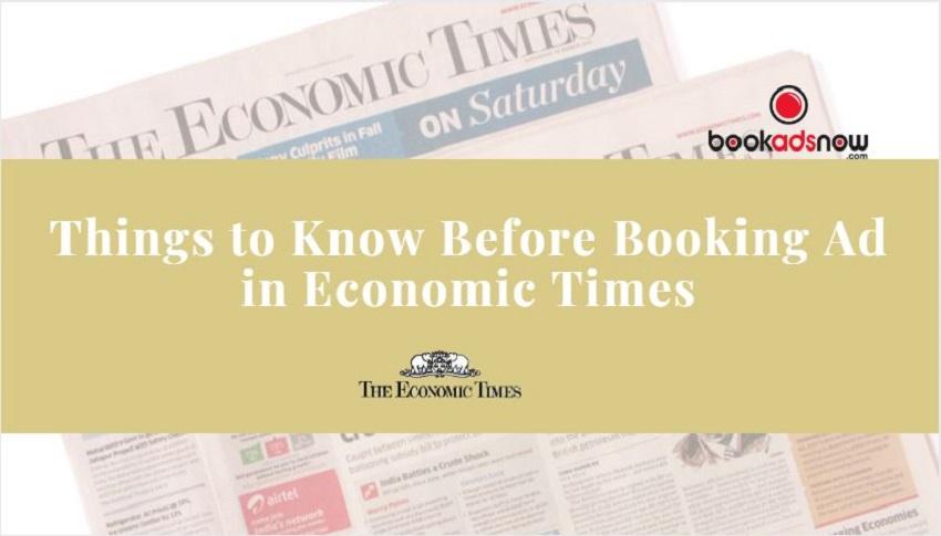 Economic Times Advertisement