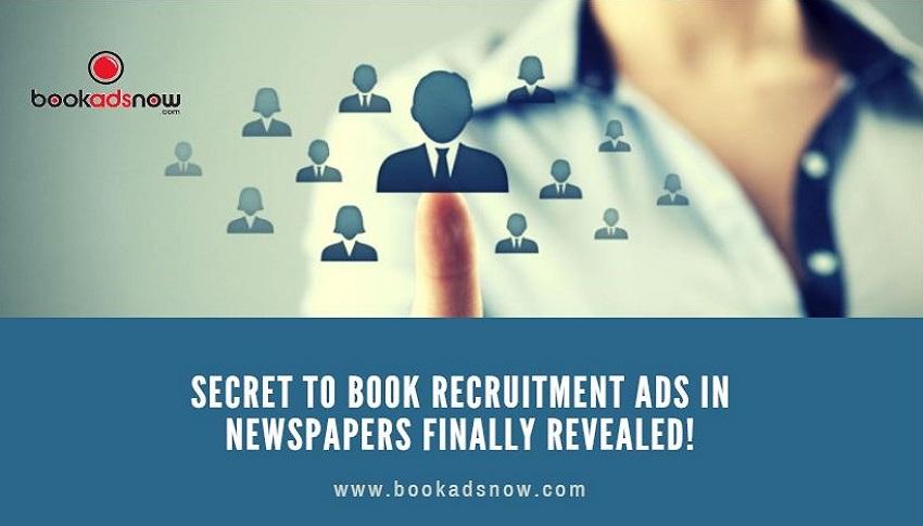 recruitment ads in newspaper