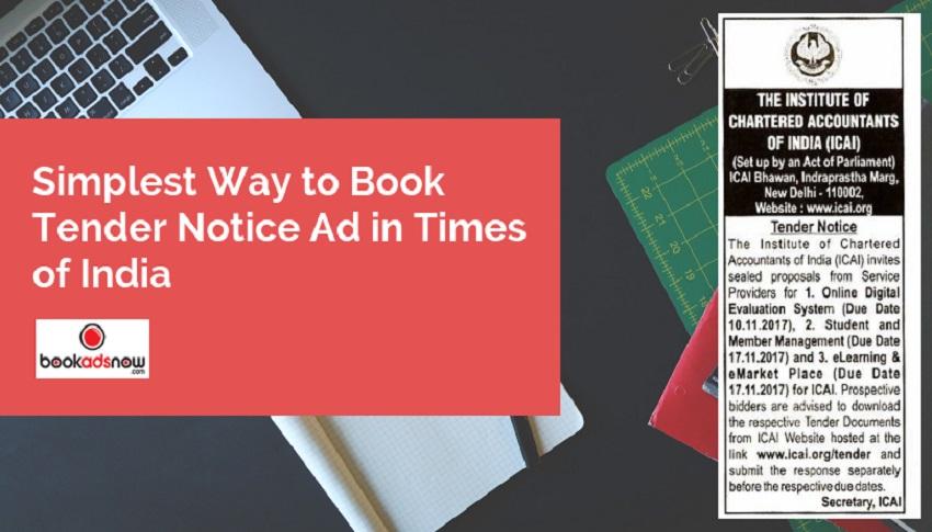 tender notice ads