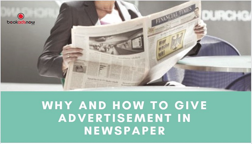 how to give ad in newspaper