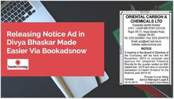 Booking Public Notice Ad in Divya Bhaskar Made Easier Via Bookadsnow
