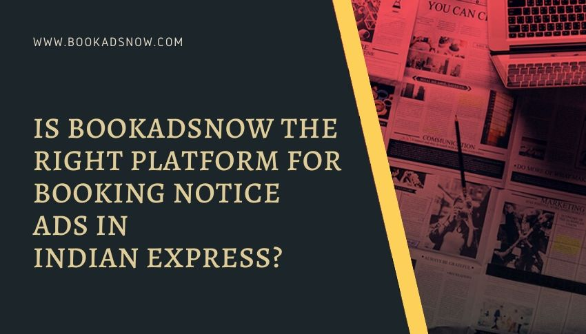 Notice Advertisement in The Indian Express