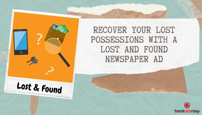Lost & Found Newspaper Ad