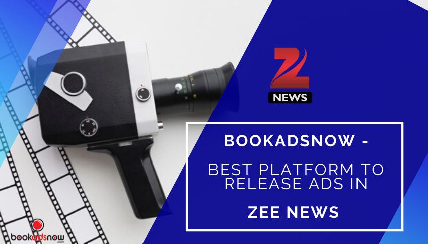 Release Zee News Ads