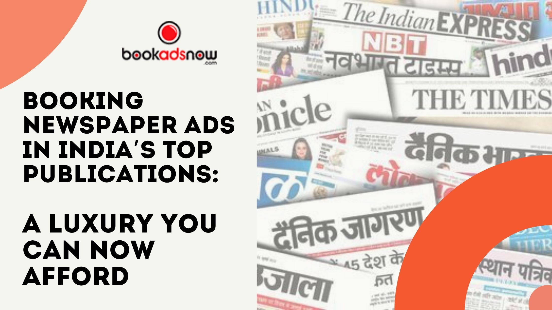 Book Newspaper ads in Major Publications