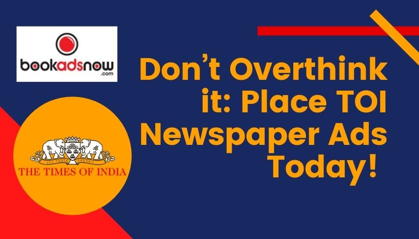 Place TOI ads