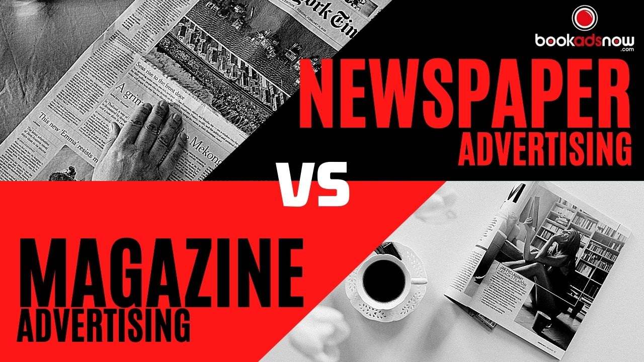 newspaper advertising vs magazine advertising