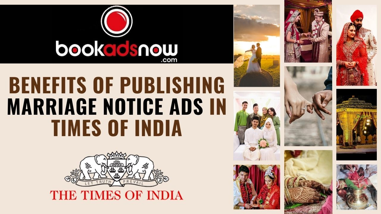 Release Marriage Notice Ads in Times of India