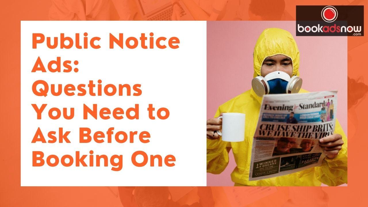 Notice Ads in Newspaper