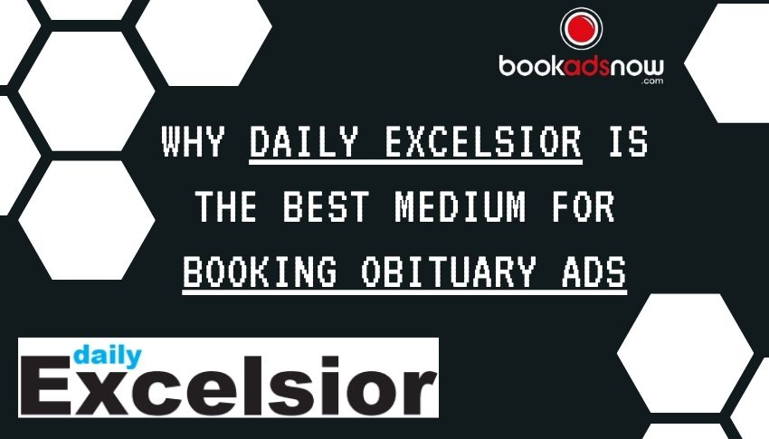 Booking Obituary Ads on Daily Excelsior