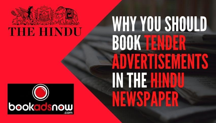 tender advertisement in newspaper