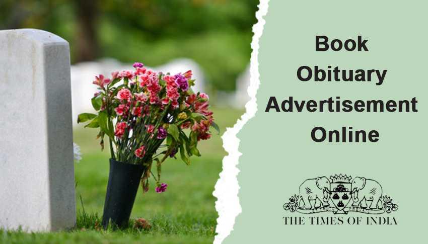 times of india Obituary