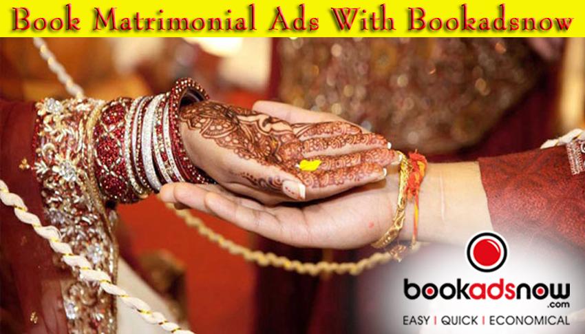Matrimonial ads in newspaper