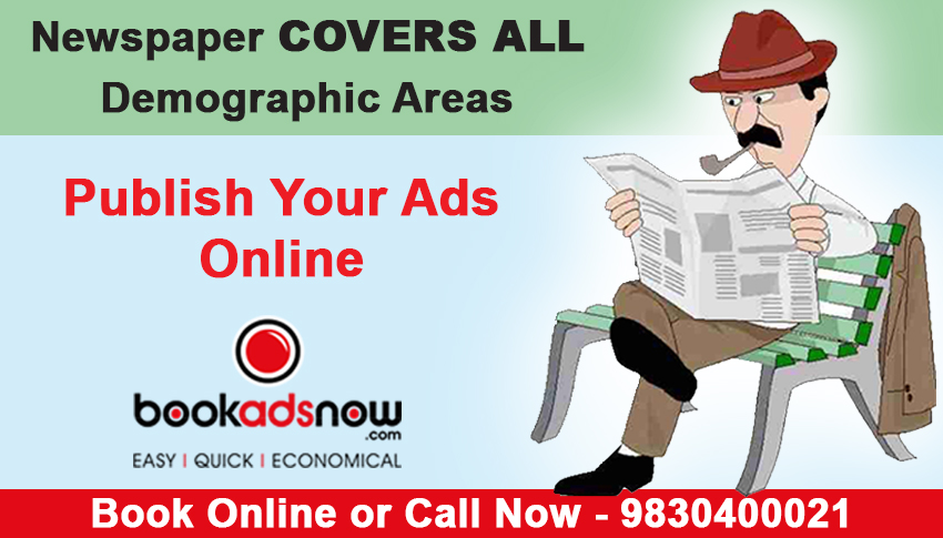 Book advertisement in newspaper