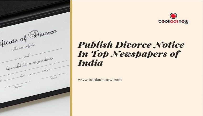Divorce Notice ads in newspaper