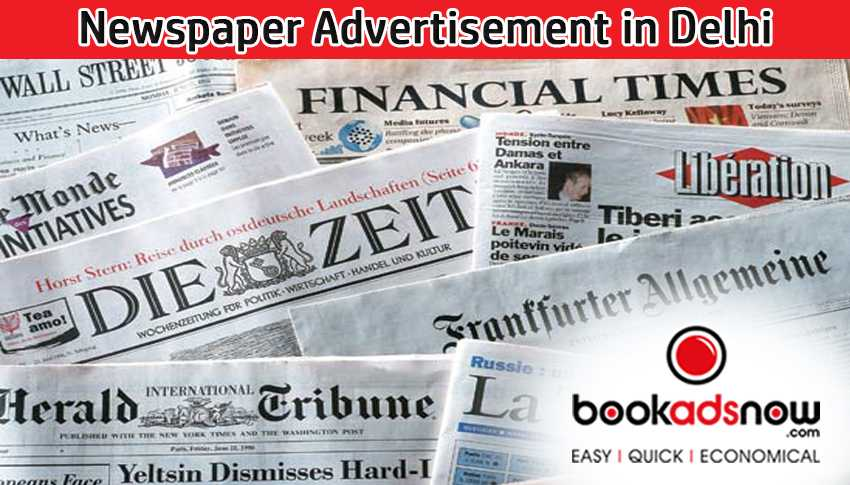 Newspaper Advertising agencies in Delhi