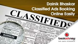 Booking Ads with Dainik Bhaskar now made easy!