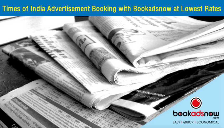 book ads in Times of India
