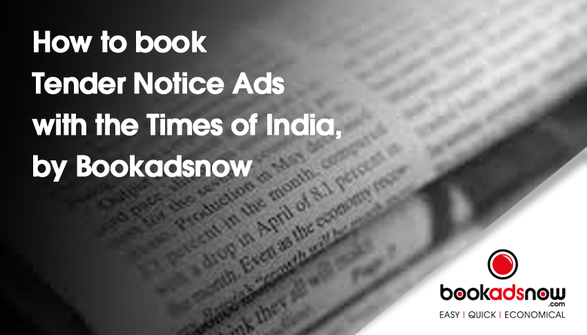 tender notice in times of india