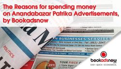 The Reasons for spending money on Anandabazar Patrika Advertisements