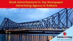 Book Advertisement through Top Newspaper Ad Agency in Kolkata