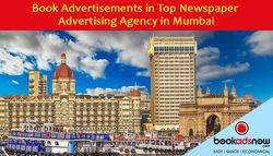Benefits of Booking Ads through Newspaper Advertising Agencies in Mumbai