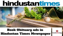 Procedure to Book Obituary advertisement in Hindustan Times