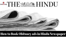 How do I Book Obituary ads in Hindu Newspaper?