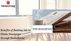 Benefits of Booking Ads in Hindu Newspaper Via Bookadsnow
