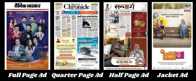Different Types of Display Advertisements in Newspapers