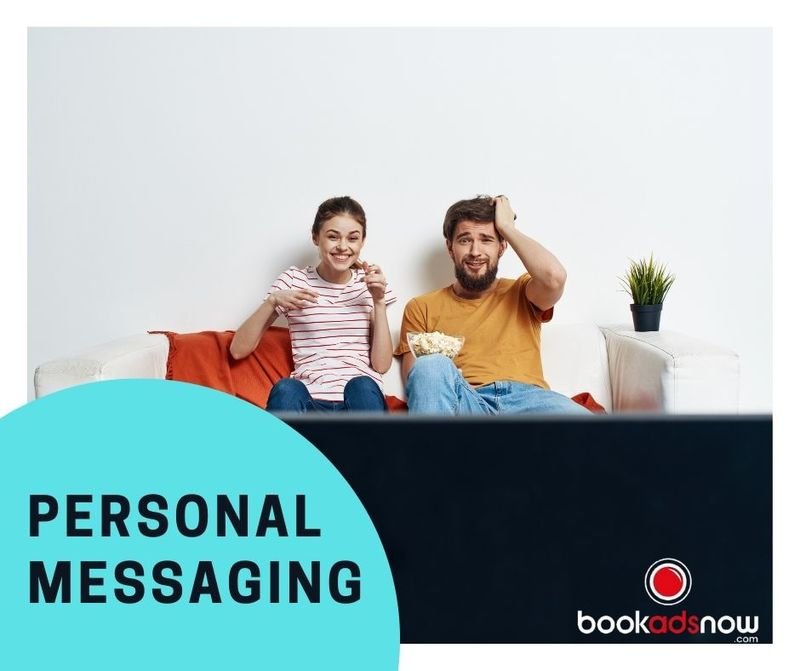 Personal messaging with tv advertising