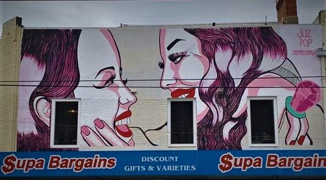 Chapel Street Mural Artwork by Juzpop
