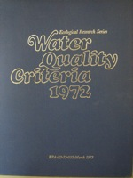 Water Quality Criteria 1972, Environmental Studies Board